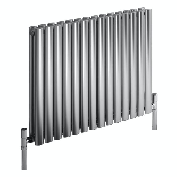 Reina Nerox double brushed stainless steel designer radiator