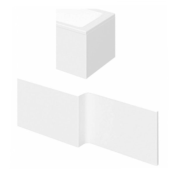 Orchard L shaped shower bath acrylic panel pack 1700mm
