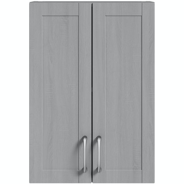 Wall Cabinet In Dusk: Reeves Newbury Dusk Grey Wall Hung Cabinet 720 X 500mm At