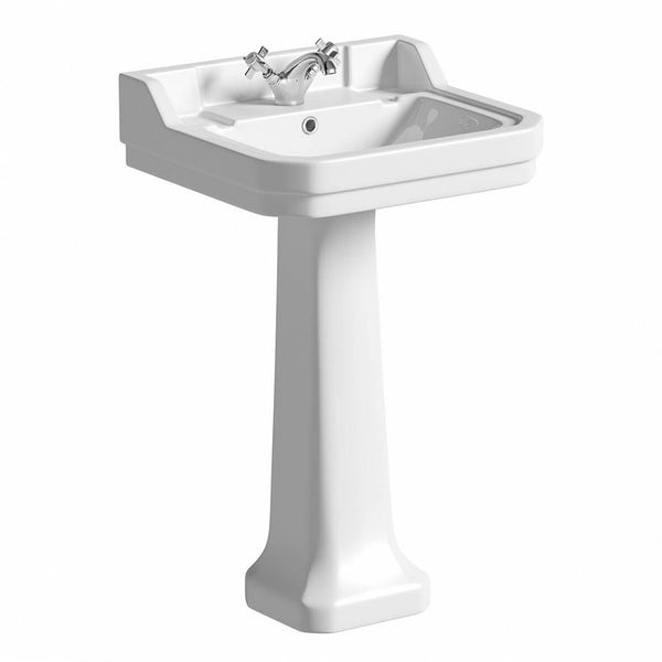 The Bath Co. Camberley 1 tap hole full pedestal basin