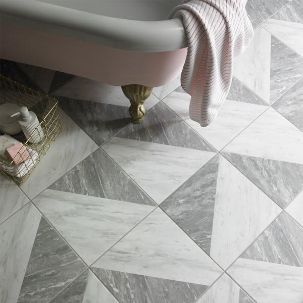 British Ceramic Tile Harmony Marble Feature matt floor tile 331mm x 331mm