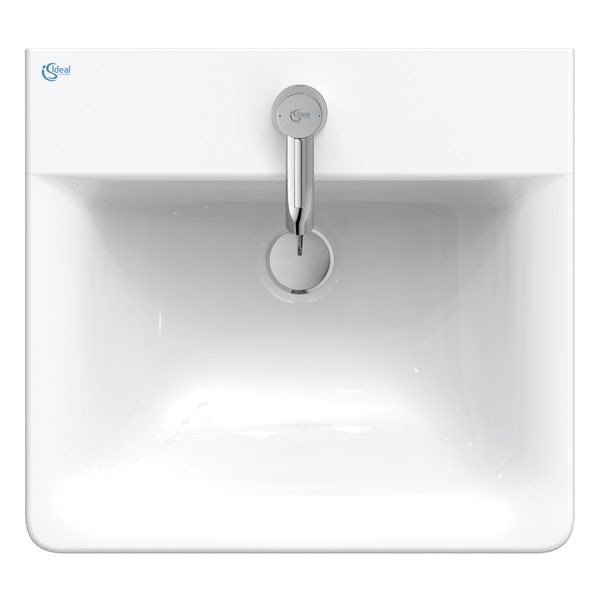 Ideal Standard Concept Cube 1 tap hole wall hung basin 500mm