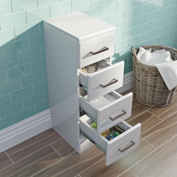 Eden white multi drawer unit 330mm