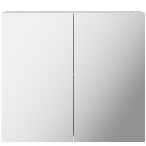Mode Cortona white 2 door mirror cabinet