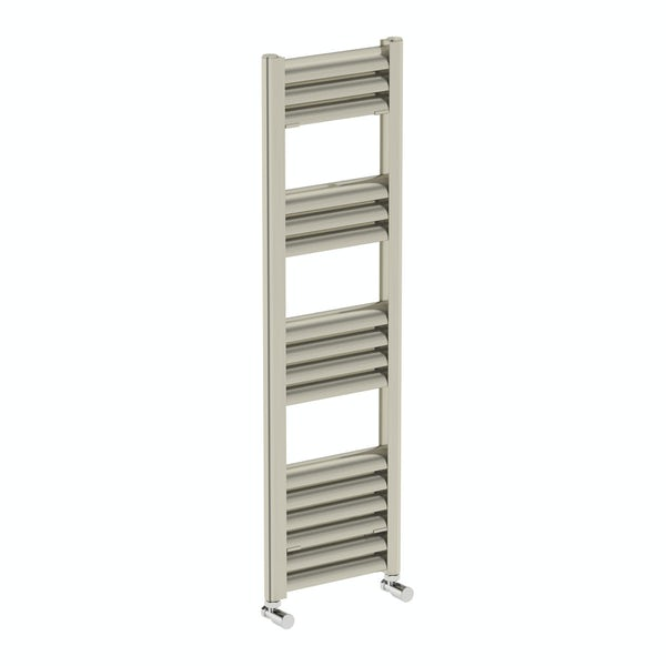 The Heating Co Carter brushed aluminium heated towel rail