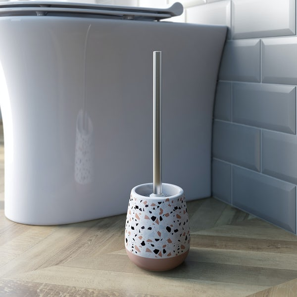 Accents Turin Terazzo effect toilet brush holder