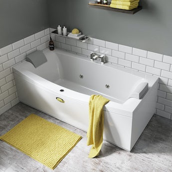 Jacuzzi Essentials double ended whirlpool bath 1800 x 880