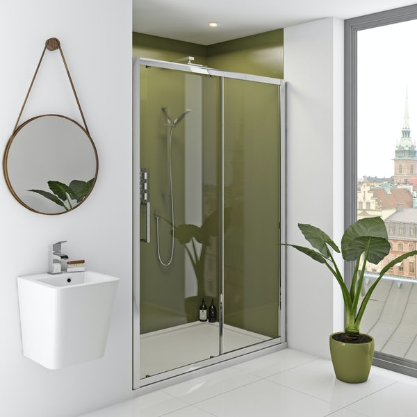 Zenolite plus earth acrylic shower wall panel 2440 x 1000
