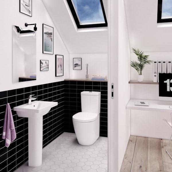 Ideal Standard Concept Space 1 tap hole full pedestal basin 550mm