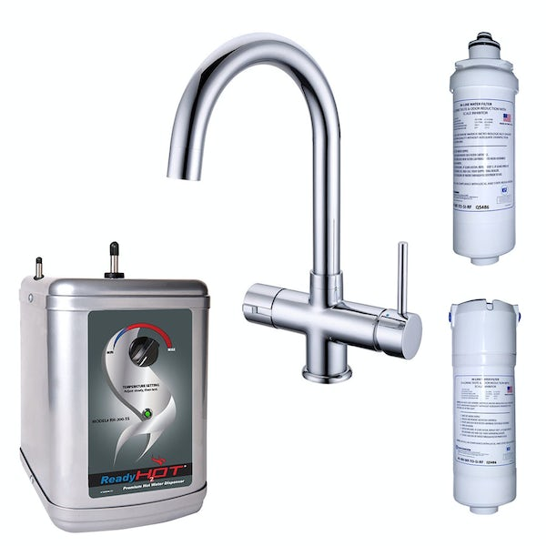 Ready Hot Three way boiling water tap with manual boiler