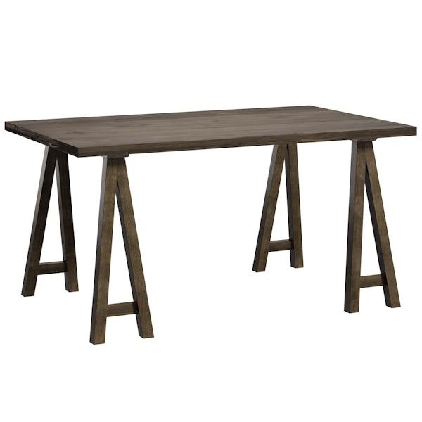 Hudson Walnut Trestle Table