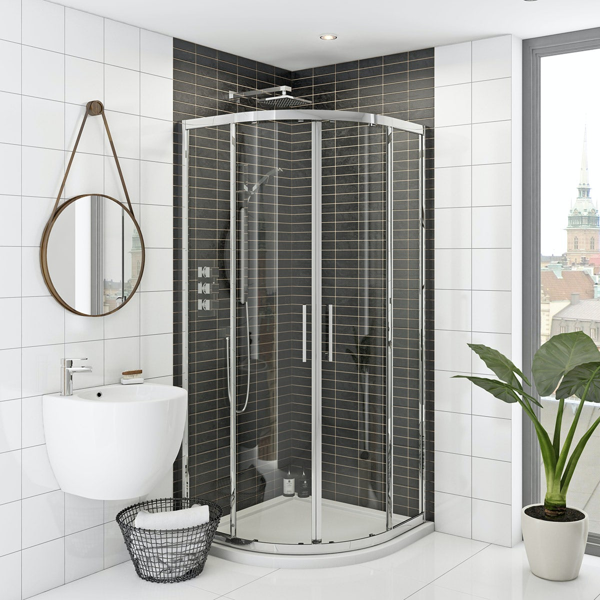 Hardy 8mm easy clean sliding quadrant shower enclosure