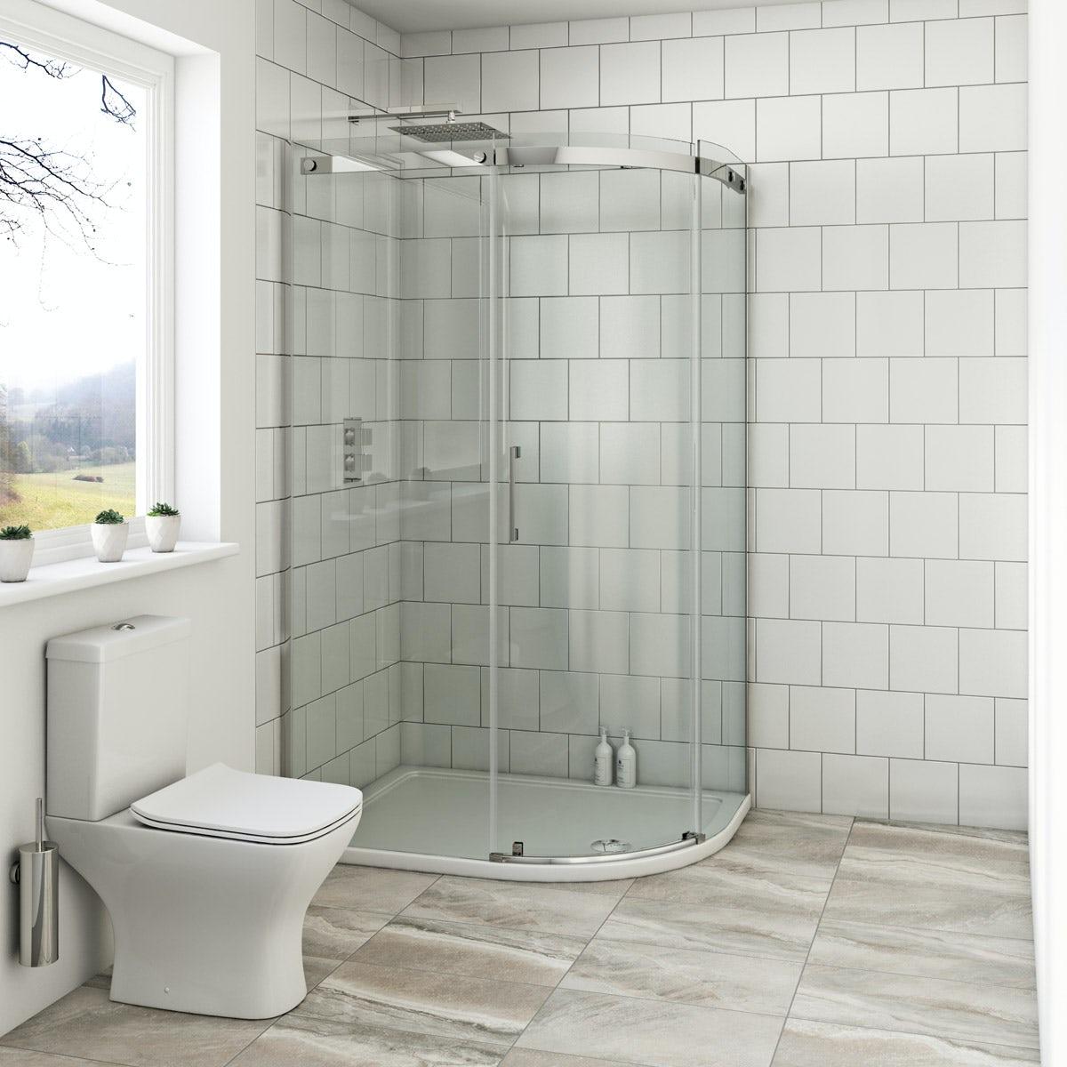 Mode Harrison 8mm right handed offset quadrant shower enclosure