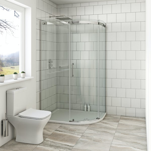 Mode Harrison 8mm right handed offset quadrant shower enclosure