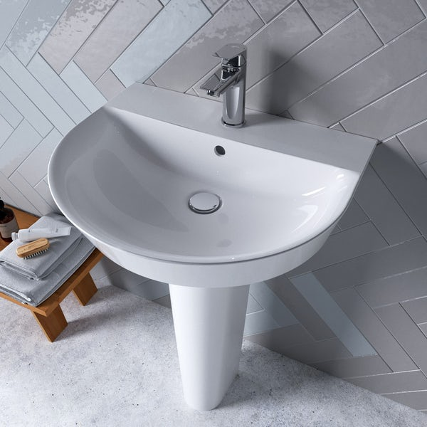 Ideal Standard Concept Air Arc 1 tap hole full pedestal basin 550mm