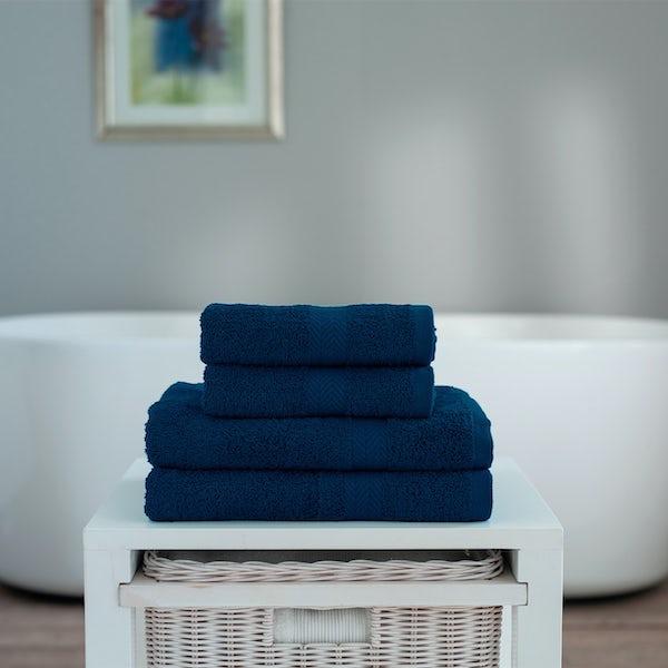 Deyongs Kingston 450gsm 4 piece towel bale navy