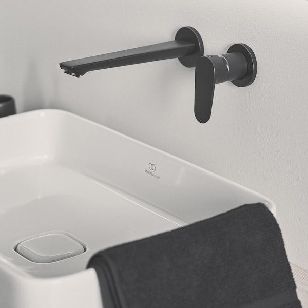 Ideal Standard Cerafine O silk black black wall mounted basin mixer tap