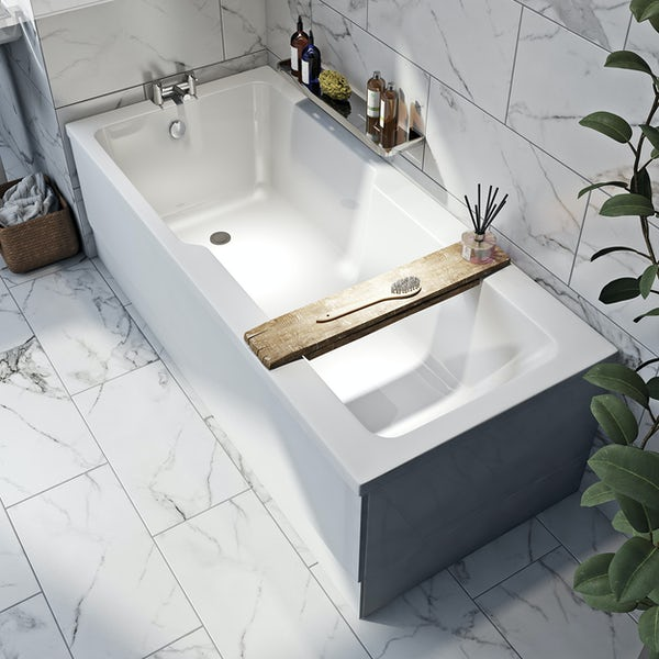 Orchard Eden single ended wide end straight bath 1700 x 750
