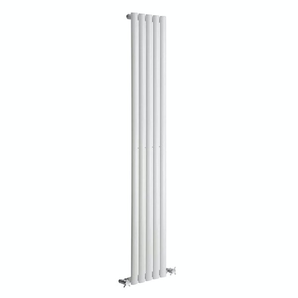 Reina Neva white single vertical steel designer radiator