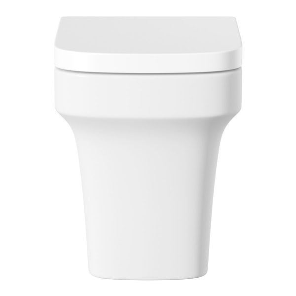 Mode Carter back to wall toilet and semi pedestal basin suite