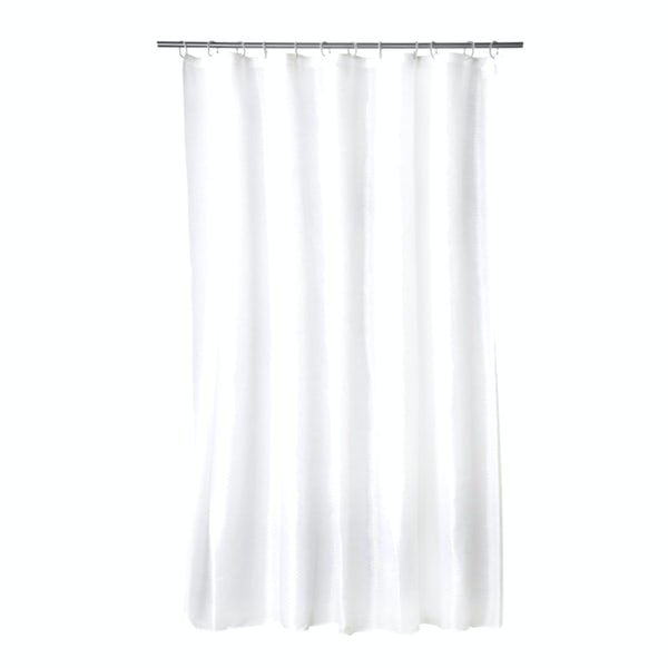Croydex plain frosty PVC shower curtain
