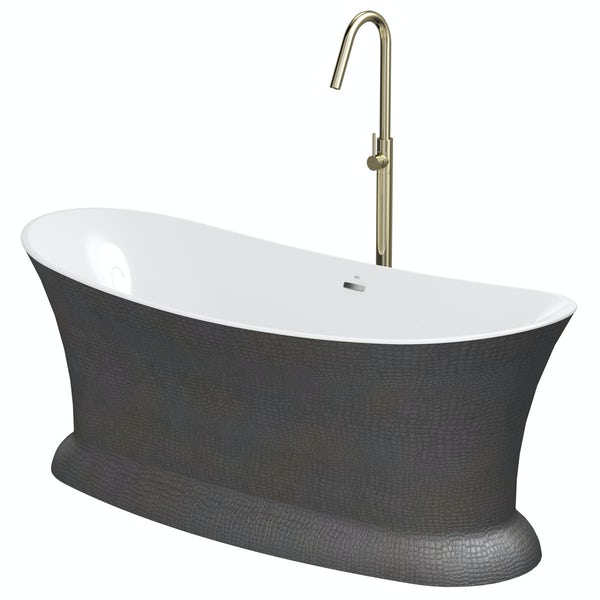 Belle de Louvain Botero freestanding bath and tap pack