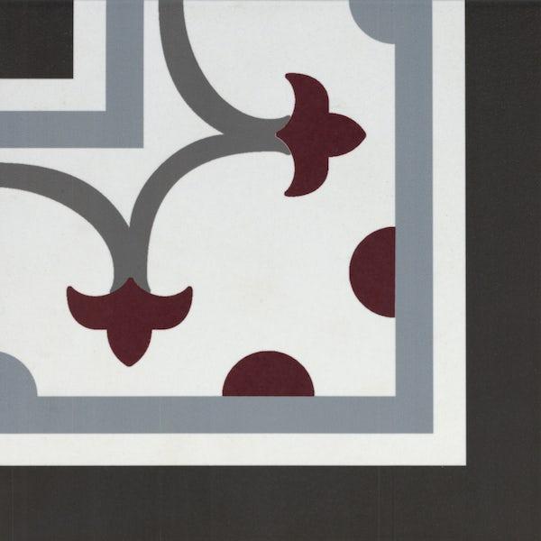 Girona corner red traditional matt wall and floor tile 200mm x 200mm