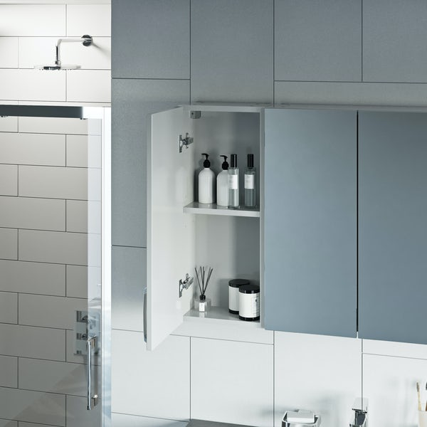Mode Nouvel gloss white wall hung cabinet 720 x 300mm