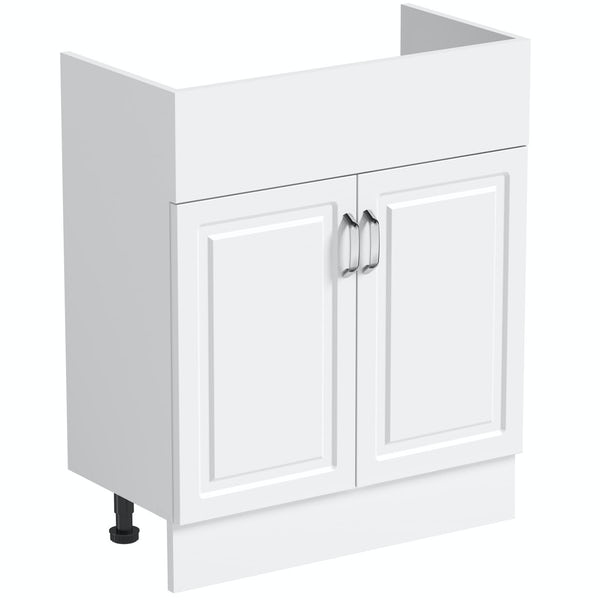Reeves Florence white unit 650mm with plinth