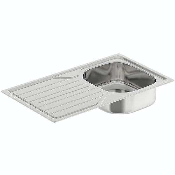 Tuscan Versilia polished satin 1.0 bowl universal kitchen sink