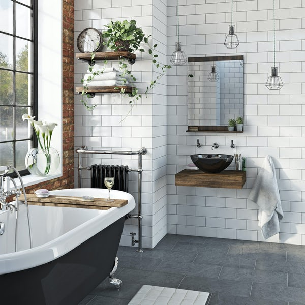 The Bath Co. Dalston countertop basin shelf