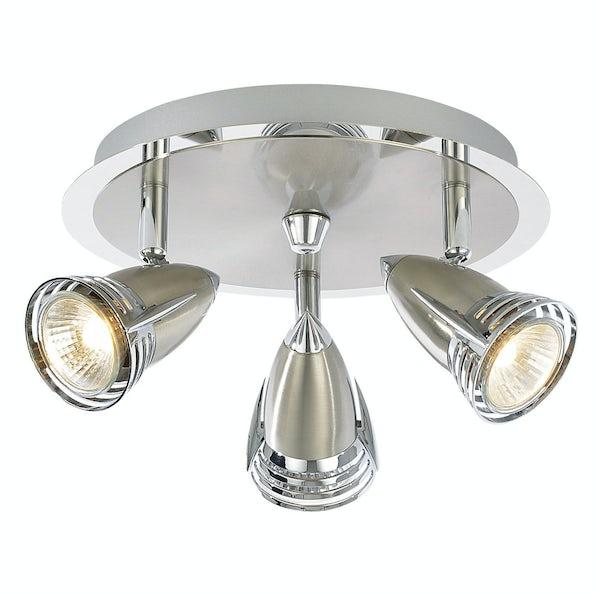 Forum Athena chrome 3 light kitchen ceiling light