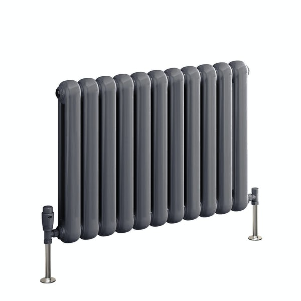 Reina Coneva anthracite grey horizontal steel designer radiator