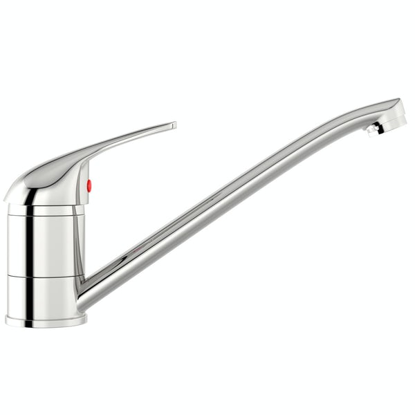 Clarity single lever kitchen sink mixer tap with swivel spout
