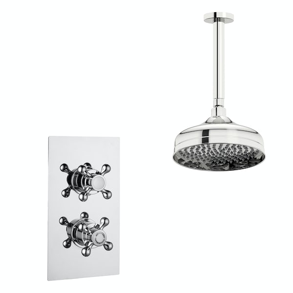 Kirke Classic concealed thermostatic mixer shower with ceiling arm