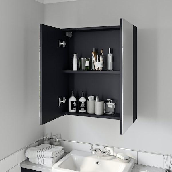 Reeves Newbury indigo mirror cabinet 720 x 600mm