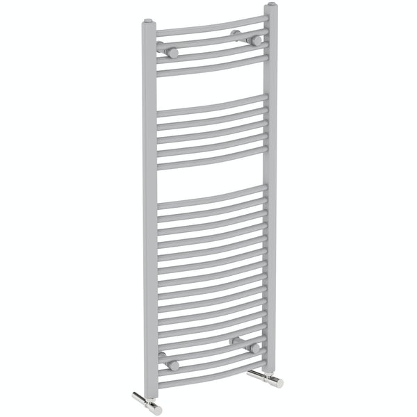 Orchard Elsdon stone grey heated towel rail 1150 x 450