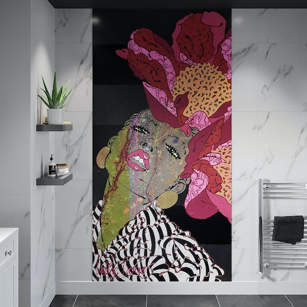 Louise Dear There Are No Rules acrylic shower wall panel 2400 x 1220mm