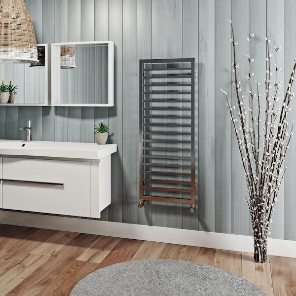 Mode Burton chrome heated towel rail 1150 x 450