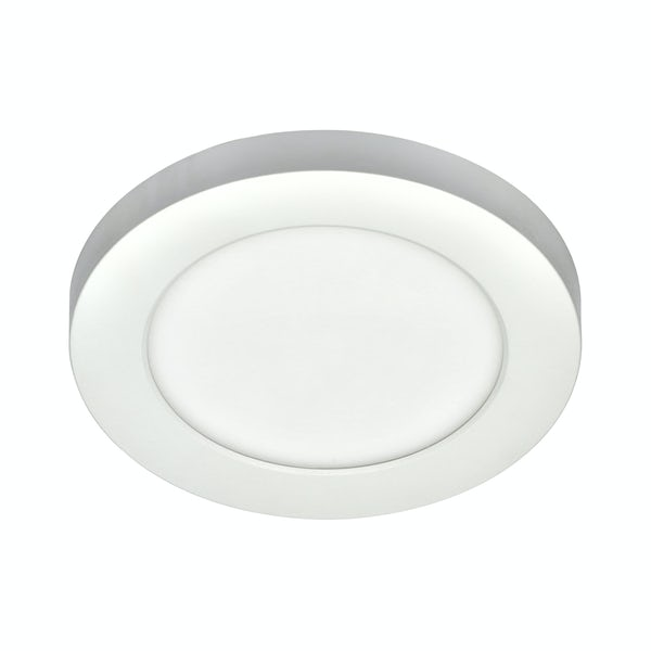 Forum Theta white small round flush bathroom ceiling light