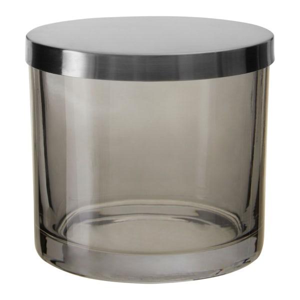 Accents Ridley grey glass storage jar