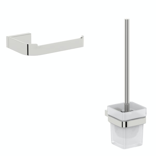 Mode Spencer chrome 2 piece toilet accessory pack