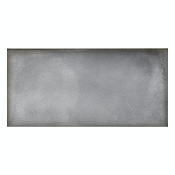 Verona grey glazed gloss wall tile 100mm x 200mm