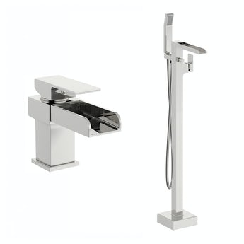 Mode Carter basin mixer and bath shower standpipe pack