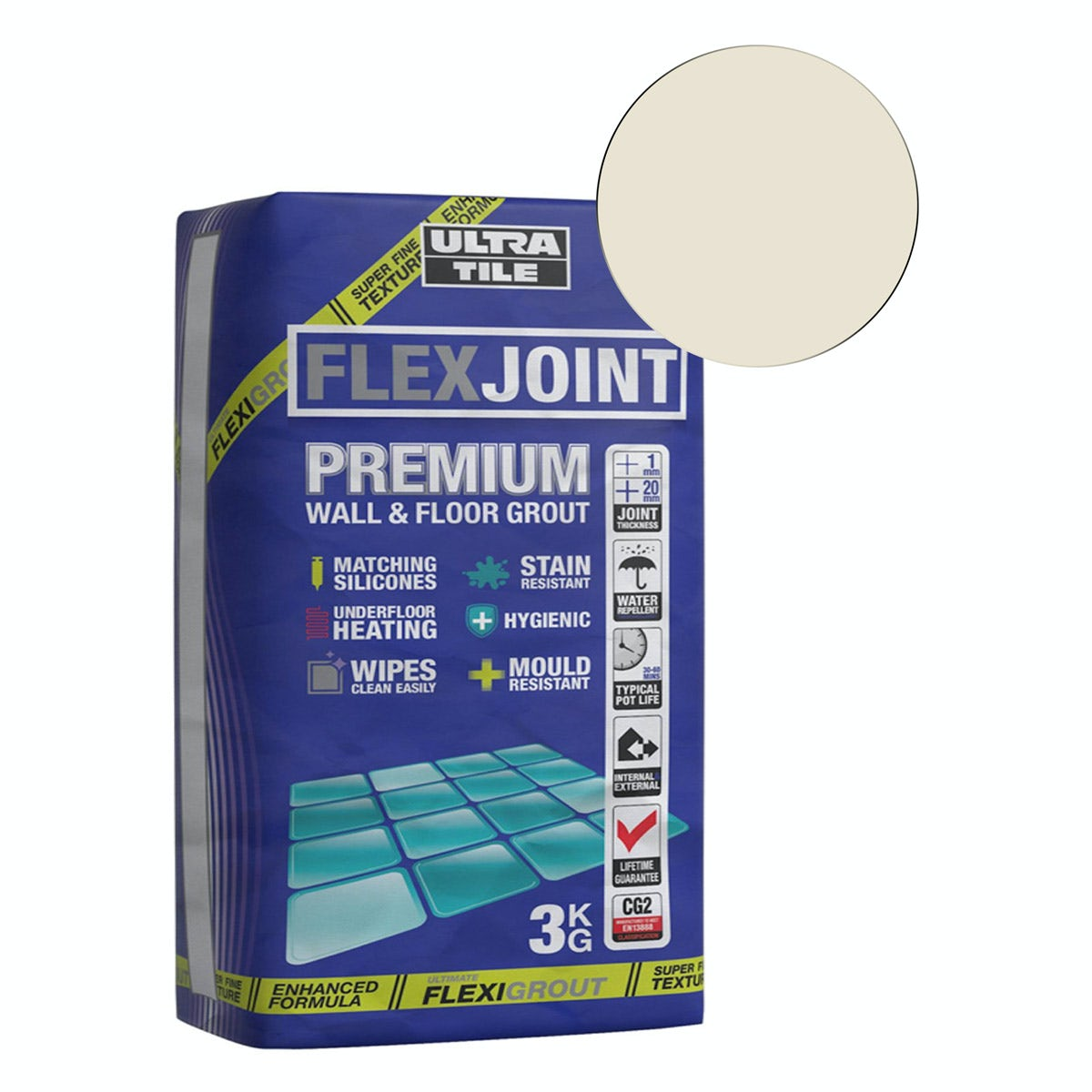 Ultra Tile Flexjoint Premium Cream Wall Floor Grout
