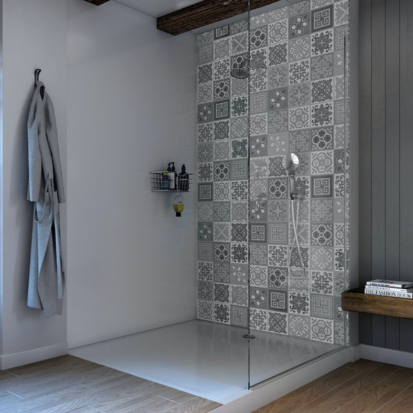 Showerwall Custom Vict Grey Acrylic Wall Panel