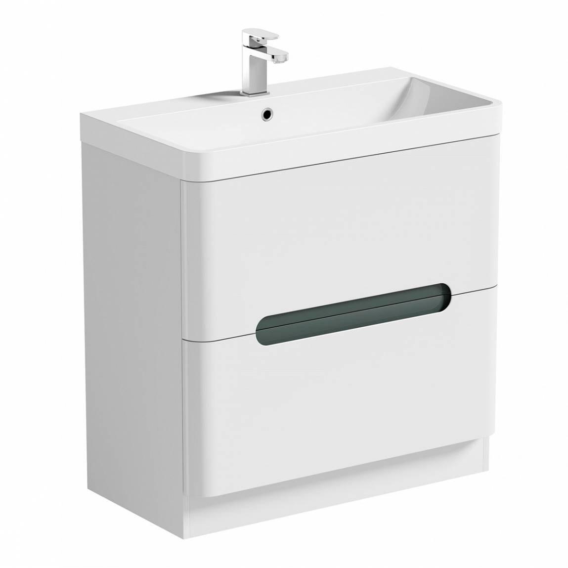 Mode Ellis slate vanity drawer unit and basin 800mm