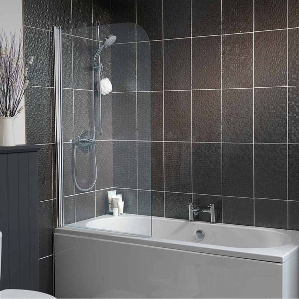 Orchard 6mm Straight Shower Bath Screen Victoriaplum Com