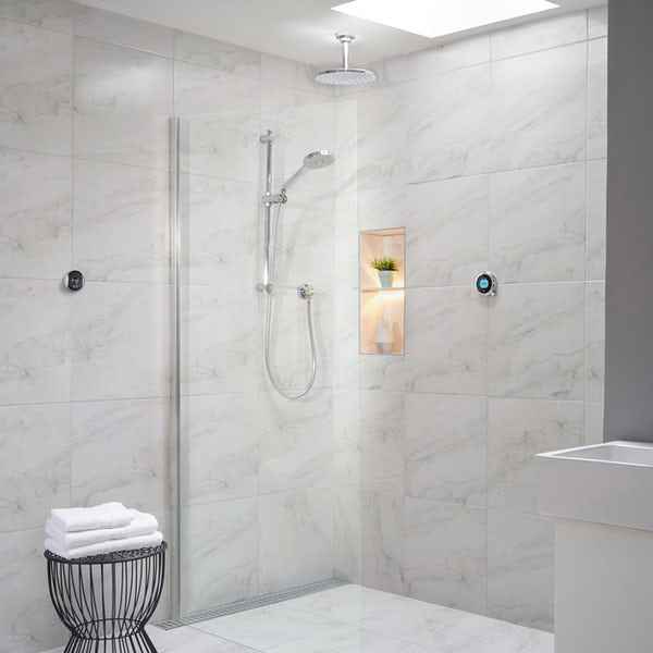 Aqualisa Optic Q Smart concealed shower with adjustable handset and ceiling head