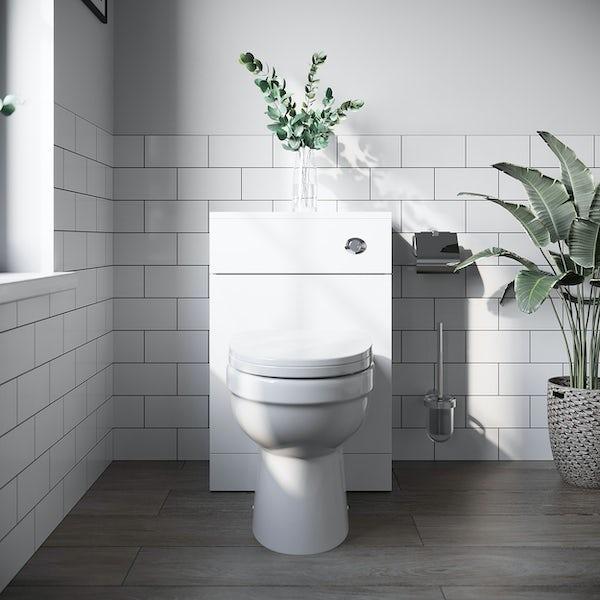 Orchard Elsdon white slimline back to wall toilet unit 500mm